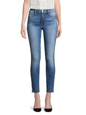 Le High Skinny Split Jeans by Frame