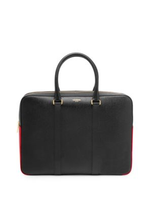 Leather Business Day Bag by Thom Browne
