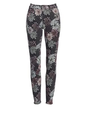 620 Floral-Print Mid-Rise Super Skinny Jeans, Floral Print Queen Annes Lace