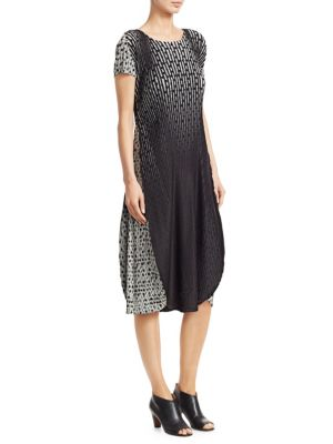 Sunlight Dots Pleated Dress by Issey Miyake