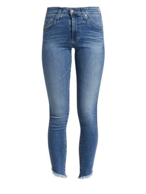 Farrah High-Rise Skinny Jeans W/ Fringe Hem, 15 Years Chronic