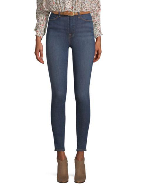Frame Ali High-Rise Cigarette Crop Skinny Jeans | SaksFifthAvenue