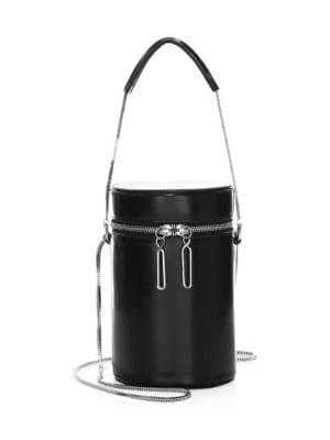Soleil Mini Barrel Crossbody in Black