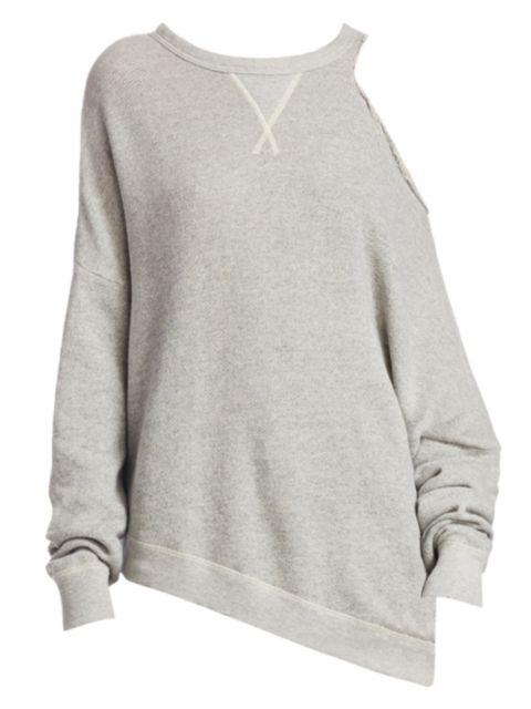 R13 Distorted Cotton Sweatshirt | SaksFifthAvenue