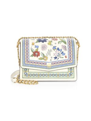 Robinson Floral Print Shoulder Bag - White, Meadow Sweet / New Ivory