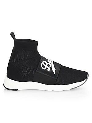 f70bbfcd9cb Balmain - Knit Ankle Sock Sneakers - saks.com
