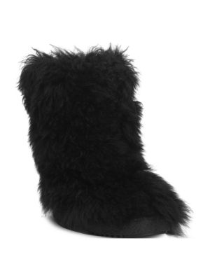 Booly Lambswool Ankle Boots, Black