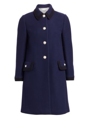 Classic Single-Breasted Coat in Blue