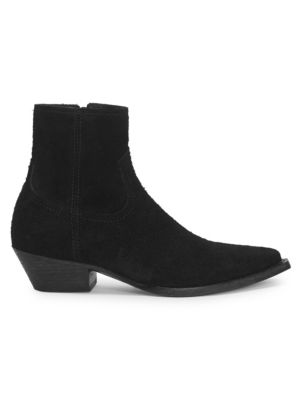 Lukas Western Suede Ankle Boots, Black