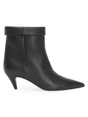 Charlotte Ankle Boot In Lambskin, Black