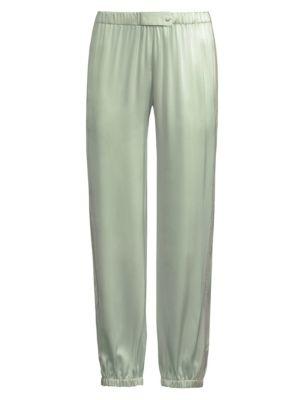 0e7f38655a Morgan Lane Camille Silk Pajama Pants In Mint