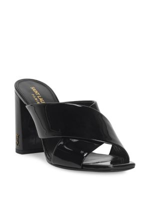 Lou Lou Patent Leather Sandals by Saint Laurent