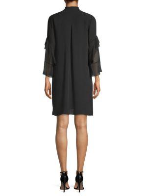 ELIE TAHARI Silks Sawyer Silk High-Low Dress