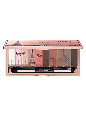"Image of WHAT IT IS ""TerryblyParis"" palette is a limited edition creation to celebrate France's mythical capital city. 0.31 oz. Made in Italy. WHAT IT DOES The palette includes ten exclusive eyeshadows ranging from perfect matte shades to satiny nudes. Wearable al"