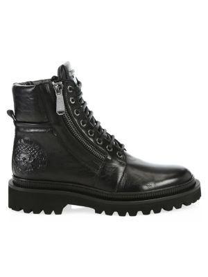 Army Ranger Leather Combat Boots in Black