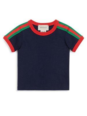 Gucci Baby Boy S Crewneck Stripe Tee