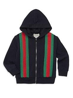 ba2e61fa28ab QUICK VIEW. Gucci. Baby Boy s Logo Stripe Zip Hoodie