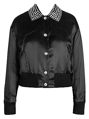 3bcedfd16a22 Miu Miu - Logo Tracksuit Jersey Jacket - saks.com