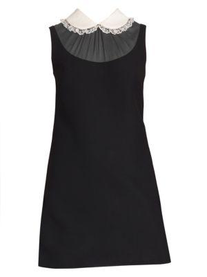 Cady Lace Collar Mini Dress by Miu Miu