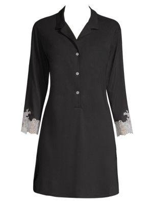 Lux Shangrila Sleepshirt, Black