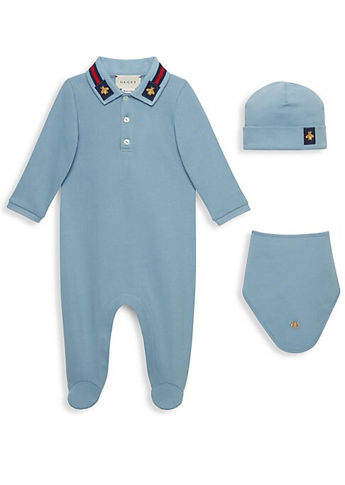 Baby Boys Footie Hat  Bib Gift Set