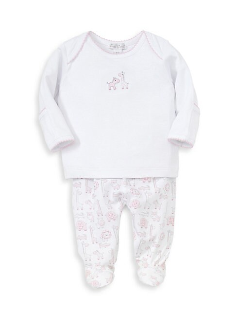 Baby Girls Jungle Out There TwoPiece Cotton Top and Footed Pants Set