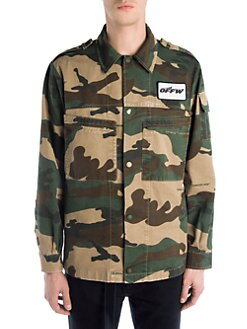 249f58fcea82c Off-White. Camouflage Military Shirt