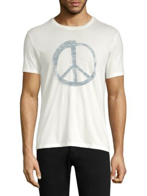 John Varvatos Star U S A Peace Sign Graphic Tee