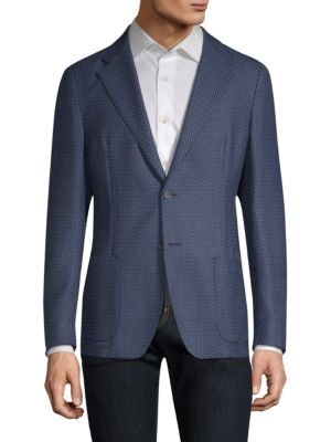 STRELLSON Mandoc Wool Blend Slim-Fit Sportcoat in Bright Blue