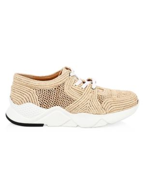 Silvio Raffia Sneakers, Natural