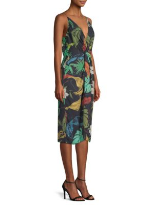 DELFI COLLECTIVE Frankie Floral-Print Sheath Dress in Black Multi