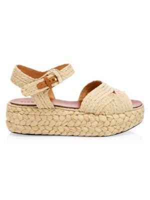 CLERGERIE Aude Raffia Platform Sandals