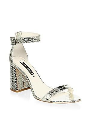17b5b72a4286 Alice + Olivia - Lillian Snake Embossed Sandals - saks.com