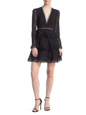 Talia Tiered Swirl Lace Dress by Zimmermann