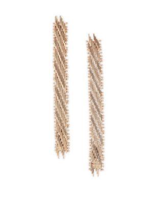 Volutta Goldtone Drop Earrings by Rosantica