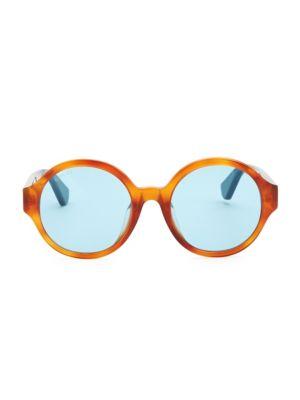 Gucci 51mm Avana Round Sunglasses