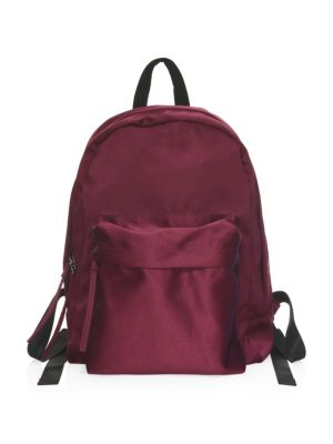 Satin Backpack in Burgundy