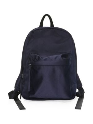 Satin Backpack in Navy