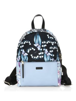 Giudecca Small Floral Print Backpack in Blue
