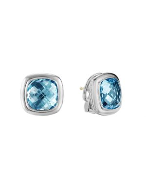 David Yurman Albion Sterling Silver & Gemstone Stud Earrings