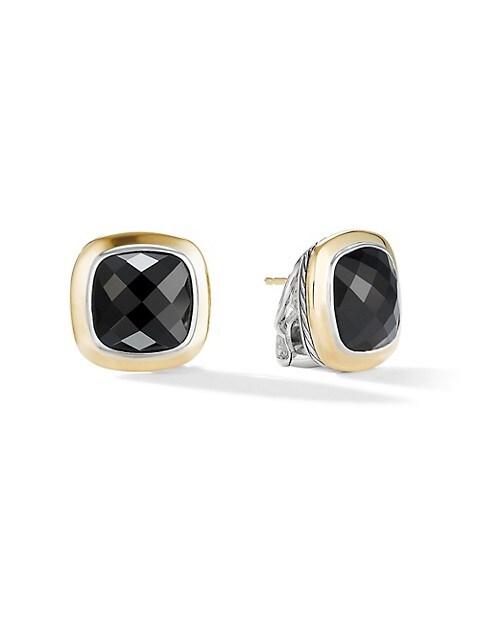 Albion 18K Yellow Gold & Black Onyx Stud Earrings