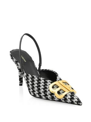 Houndstooth Slingback Pumps by Balenciaga