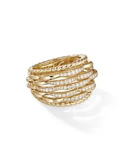 12922fe9ce636 David Yurman. Tides 18K Yellow Gold   Diamond Ring