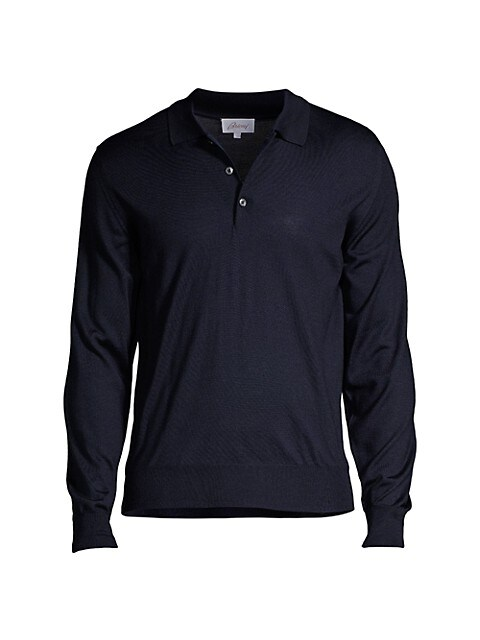 Long-Sleeve Knit Polo