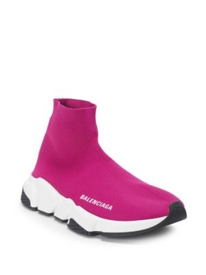 Speed Sock Stretch-Knit Sneakers, Pink