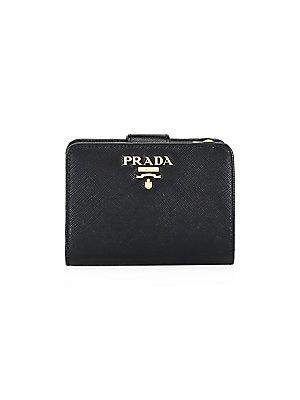 d806ca261cfa Prada - Small Saffiano Leather Tab Wallet