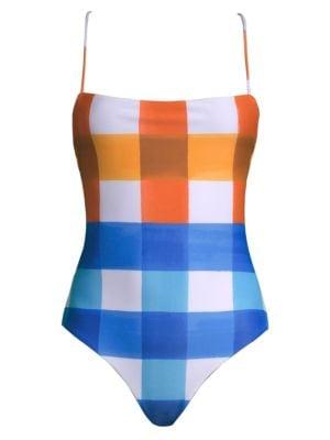 MARA HOFFMAN Olympia One-Piece Swimsuit in Orange Multi