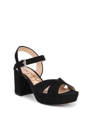 Jolene Suede Platform Sandals by Sam Edelman