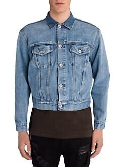 Moncler Blue Gradignan Stripe trimmed Shell Hooded Jacket for men