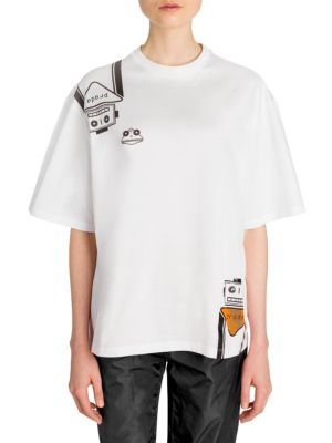 Robot Stickers T Shirt by Prada